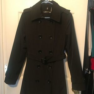 Double Breasted Rain Trench Coat